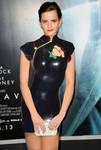Emma wear Latex Minidress in Paris