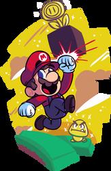 New Super Mario Bros.2 by Wazzaldorp