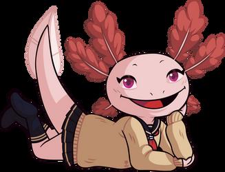 Axolotl-chan by Wazzaldorp
