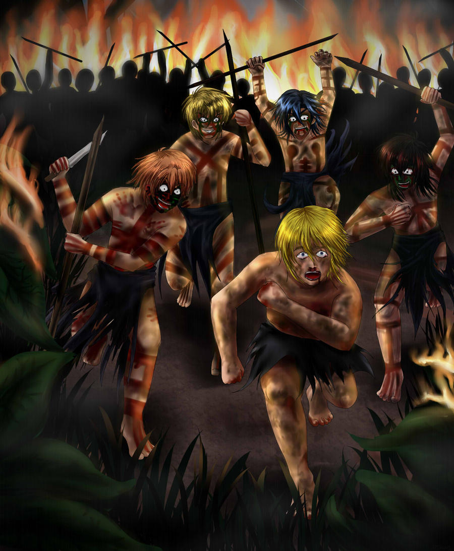 exploring the recurring theme in goldings lord of the flies