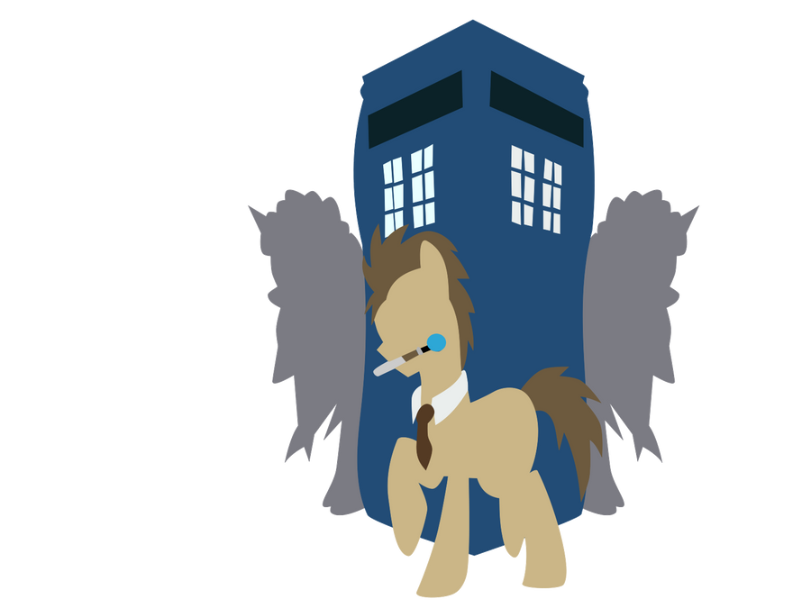 Doctor Whooves and weeping angles by horserida238