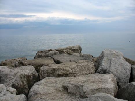 Sky, sea, rock