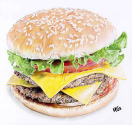 Hamburger by cherrymidnight