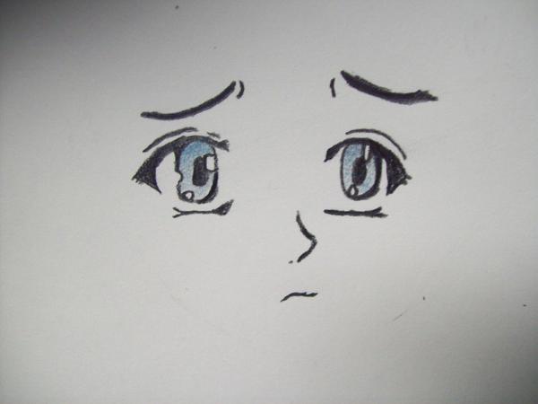 Anime sad face - female by BlueAutumnX on DeviantArt