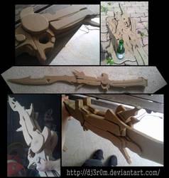 Lightning's gunblade from FF13 by Dj3r0m