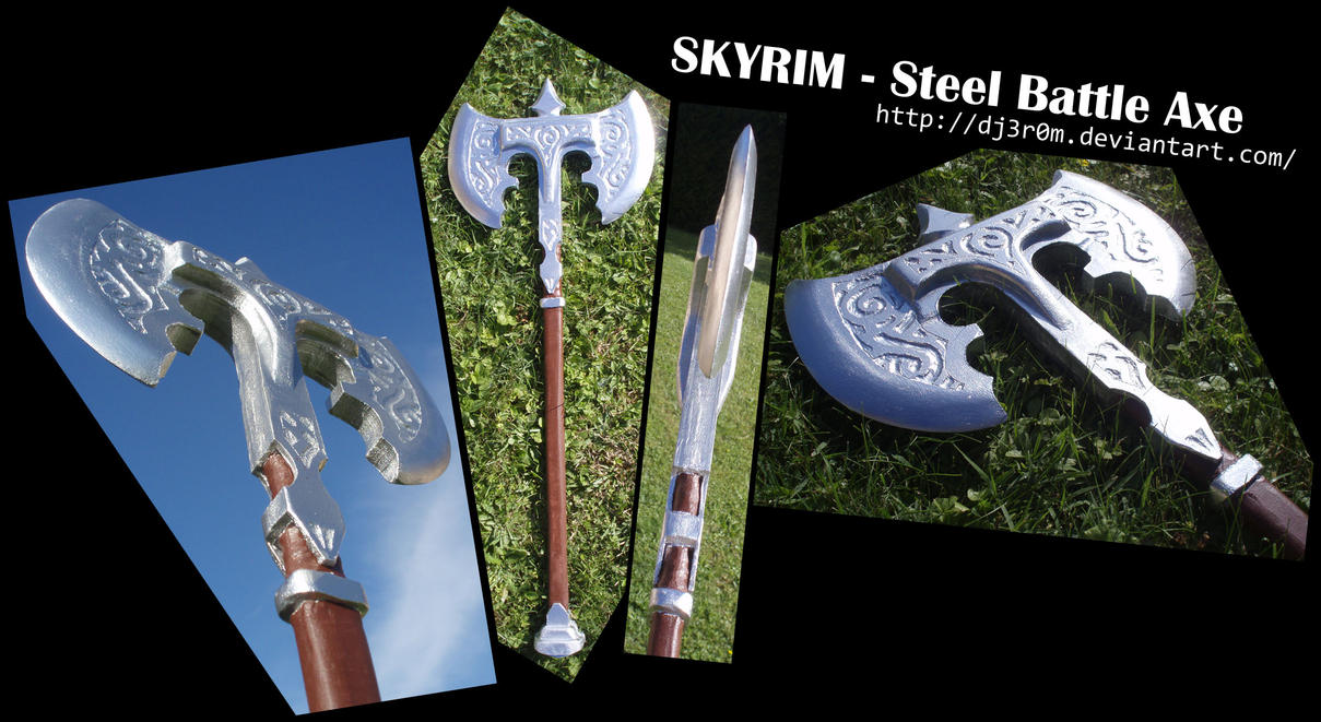 Steel Battle Axe from SKYRIM by Dj3r0m