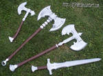 set of weapons from SKYRIM