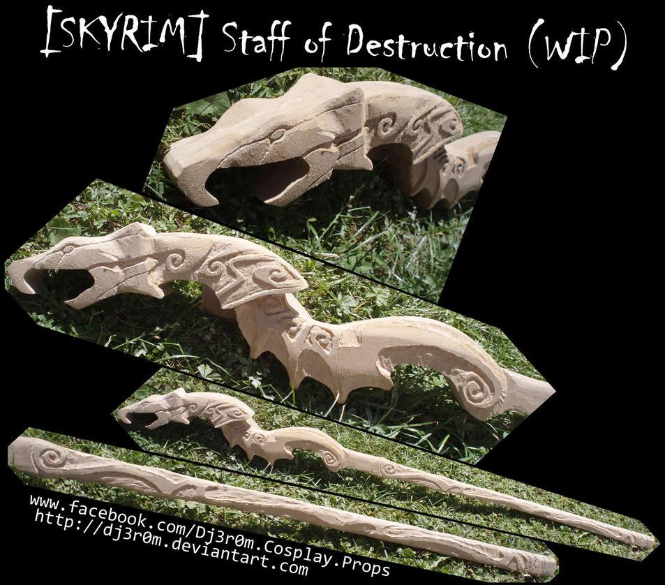 [WIP] SKYRIM - Staff of Destruction by Dj3r0m
