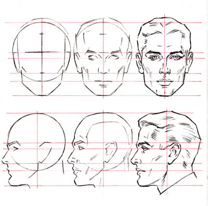 Line Drawing Human Face : Male head by abdonjromero on deviantart