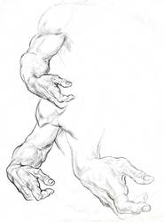 ARM AND HAND STUDIES FOR A RECLINING FIGURE by AbdonJRomero