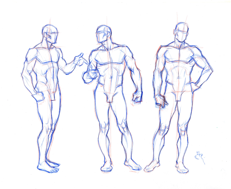 man body drawing - HD3000×2453