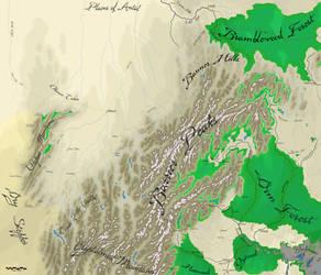 Barrier Peaks, names, 10x8.5 by AdmundfortGeographer