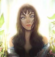Spring Garden Girl by m-renoir