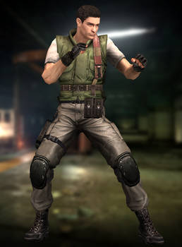 Chris Redfield(S.T.A.R.S.) Resident Evil HD by xXKammyXx