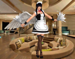 Nyotengu(Maid) Dead or Alive 5 Last Round by xXKammyXx
