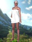Ciri(Towel, Pants, Nude) The Witcher 3 Wild Hunt