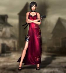 Ada Wong(Red Dress) Resident Evil 4 UHD by xKamillox