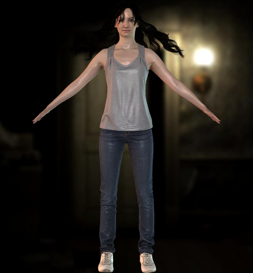Mia Winters(Clean Default) Resident Evil 7 by xXKammyXx