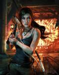 Lara Croft - A Survivor is Born by xKamillox