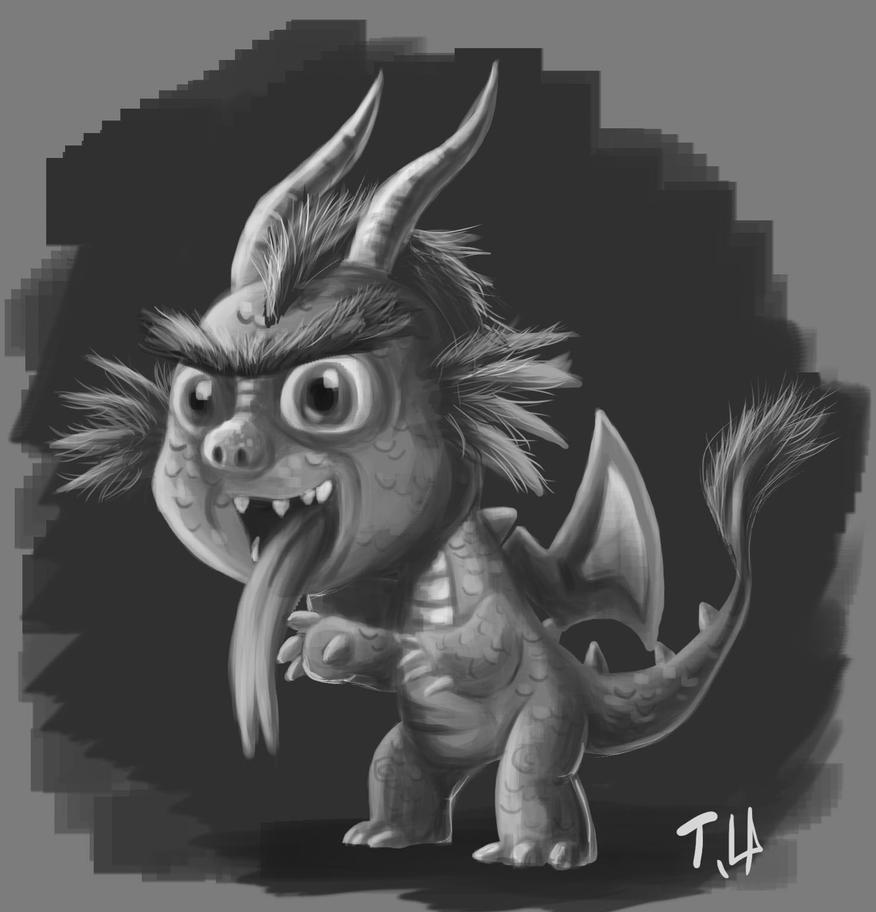 quick sketch for a evil dragon by yen-wen-hsieh
