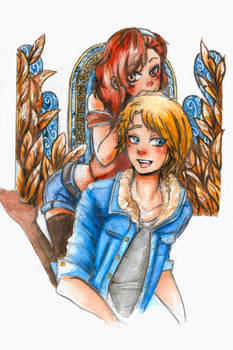 Gift: Lysia and Lysandre from 'Incarnadine'