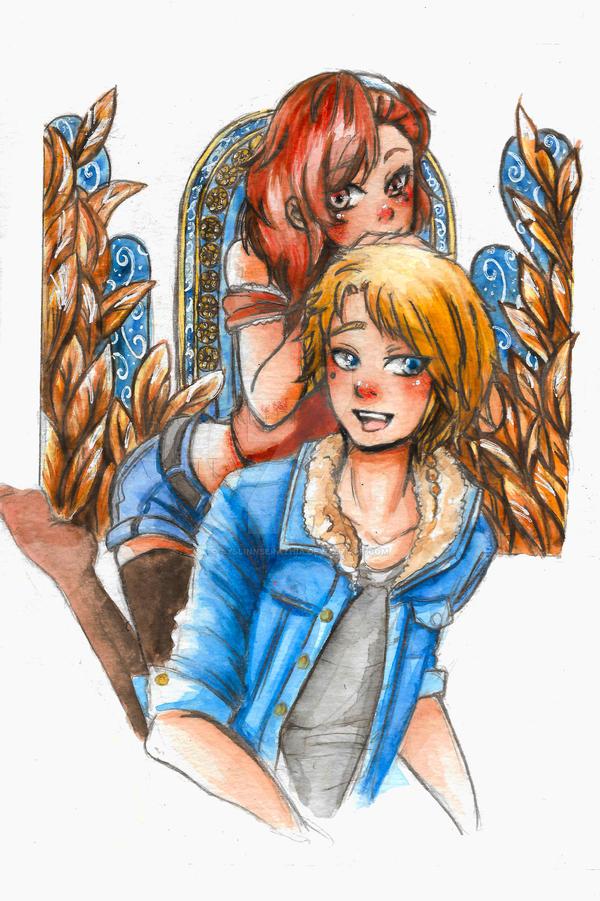 Gift: Lysia and Lysandre from 'Incarnadine' by AyslinnSerathia