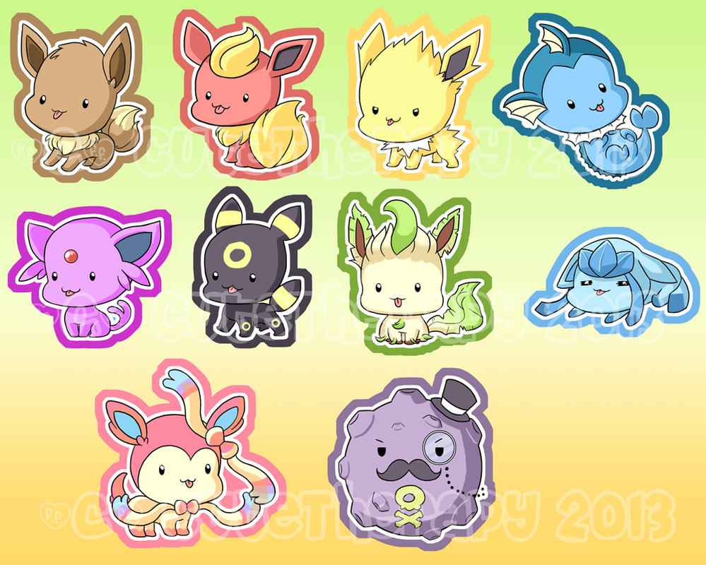 Derpy Eeveelutions by CuteTherapy