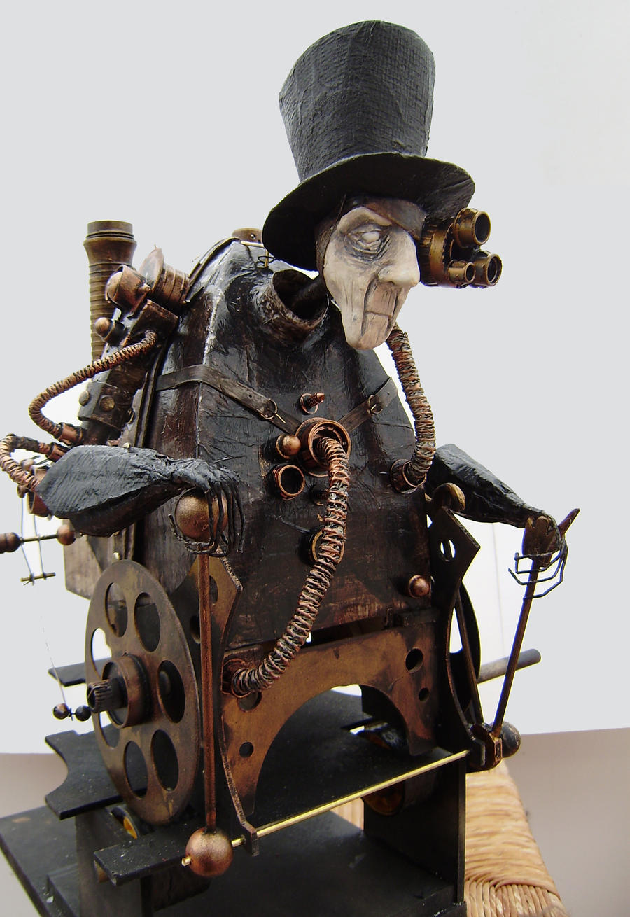steampunk cyborg technomancer