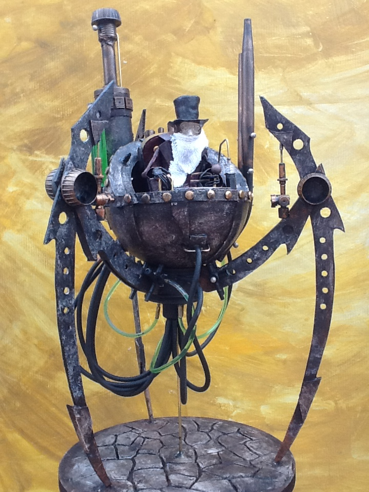 Professor's Patented  Steampowered Perambulator by impsandthings