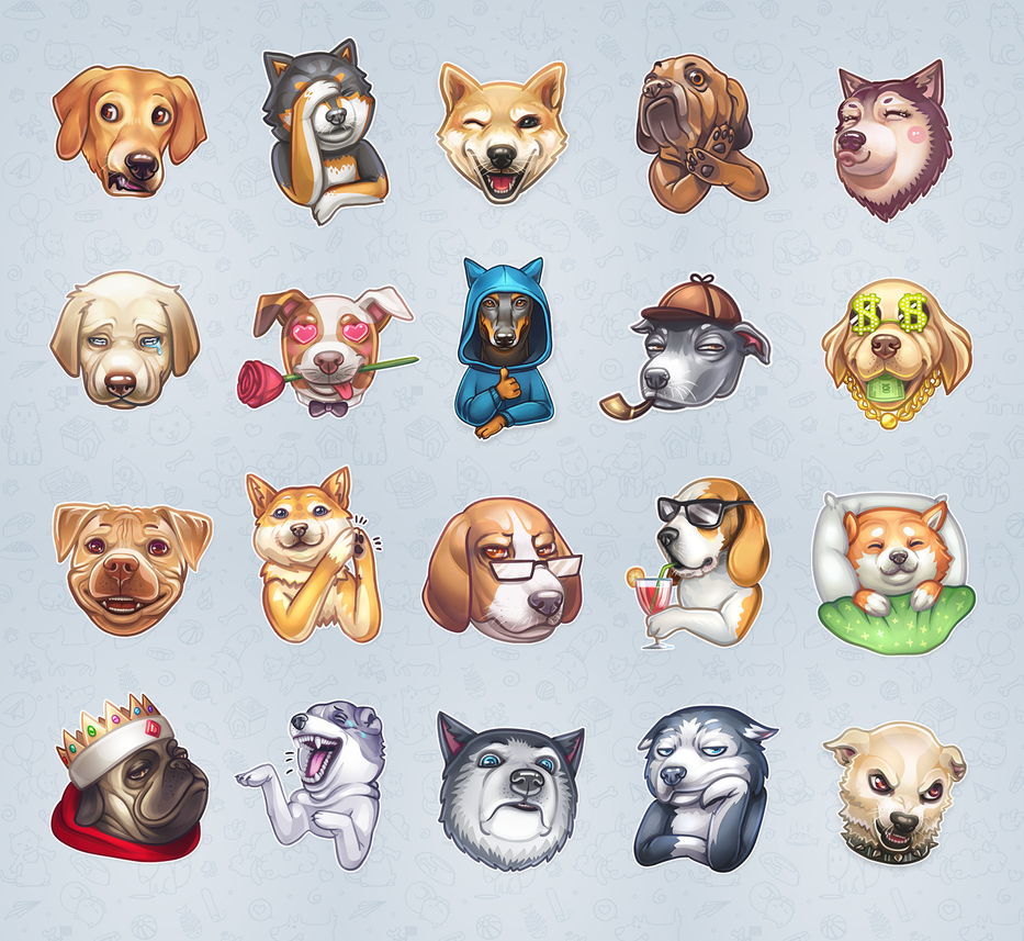 Dogs stickers for Telegram by aquaticmine