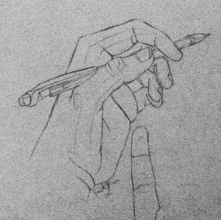 Contour Line Drawing Of A Hand : Contour line drawing of my hand by octaviasketch on deviantart