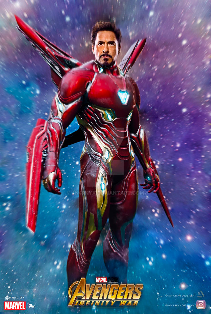 Textless Poster Iron Man Infinity War By 4n4rkyx On