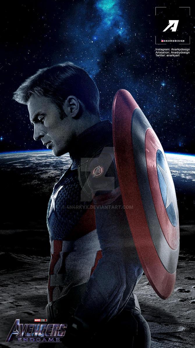 Avengers Endgame Captain America Poster