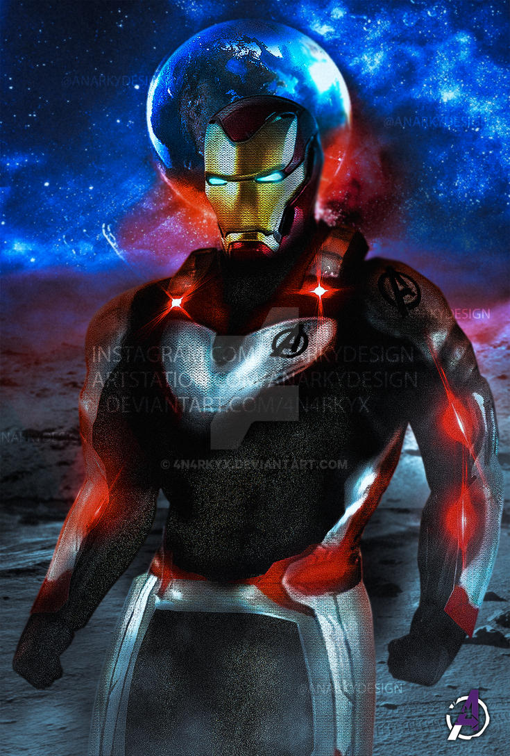 Poster: Iron Man Quantum Realm Suit Variant 2 | A4 by 4n4rkyX