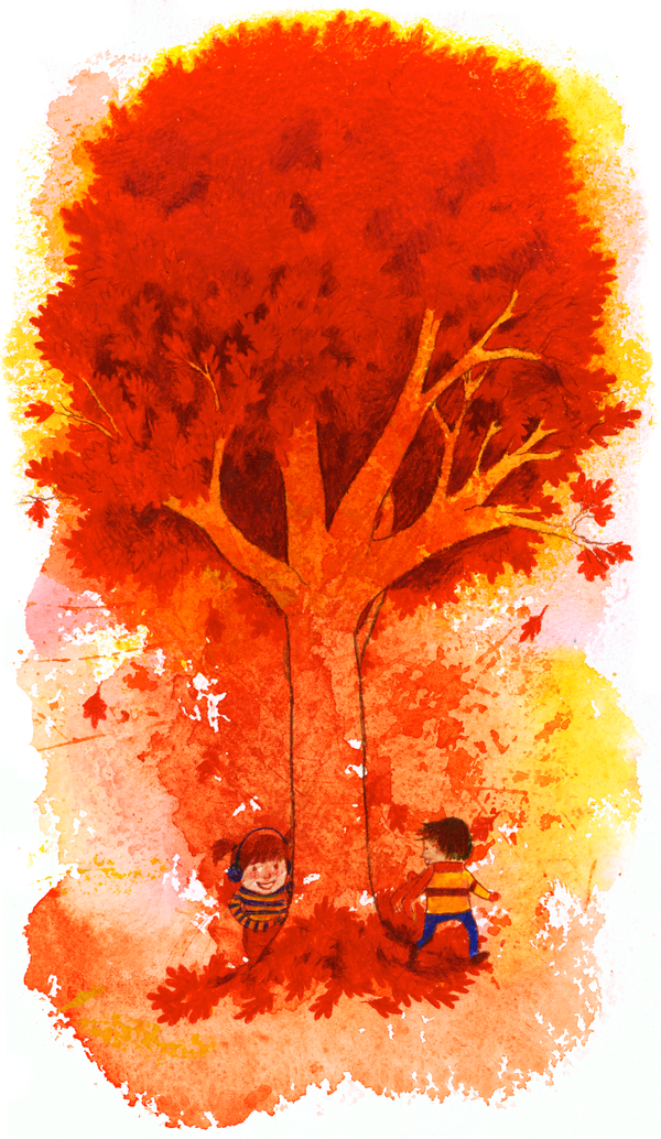 Run Around the Autumn Tree by matildarose
