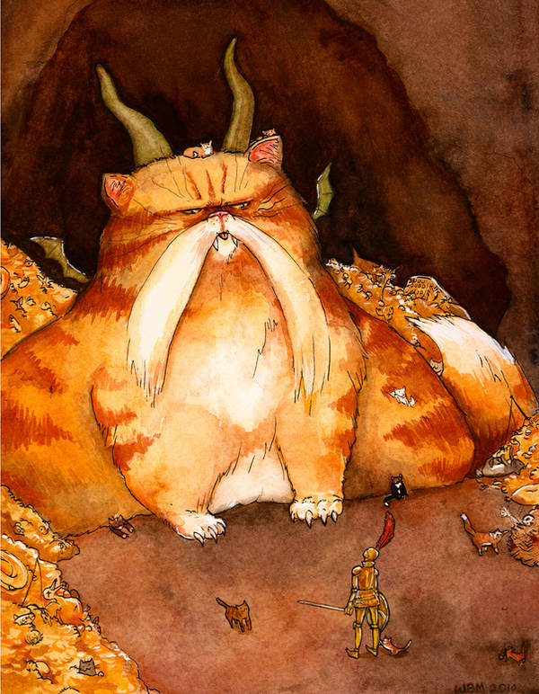 Cat Dragon by matildarose