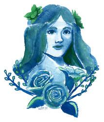 Blue Woman by matildarose