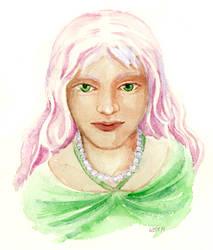 Woman in Green by matildarose