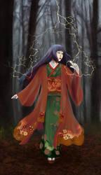Kitsune Haine of the Mantis Clan by matildarose