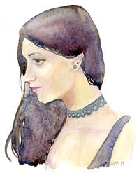 Watercolor Study 2 by matildarose