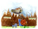 Catatonic the Cathog by matildarose