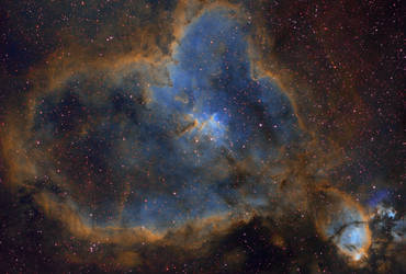 IC 1805 - Heart Nebula (Narrowband) by cgoodrich
