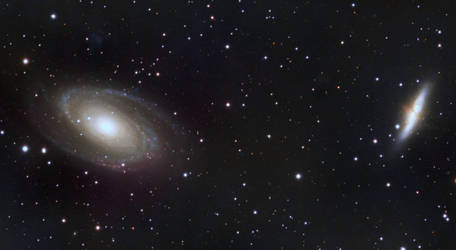 M81, M82 - Bodie's / Cigar Galaxies (LRGB) by cgoodrich