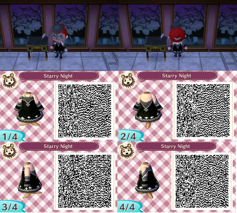 Animal Crossing New Leaf Starry Night Qr Code By
