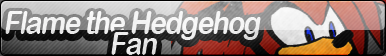 Flame The Hedgehog Fan Button by Allen-WalkerDGrayMan
