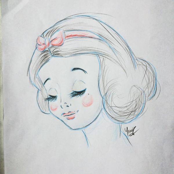 Snow White Pencil Sketch by xXChibiRukiaXx