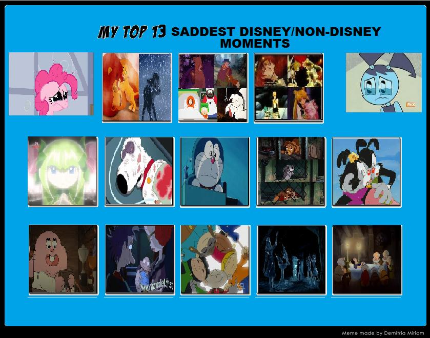 top 13 saddest disney non disney moments by