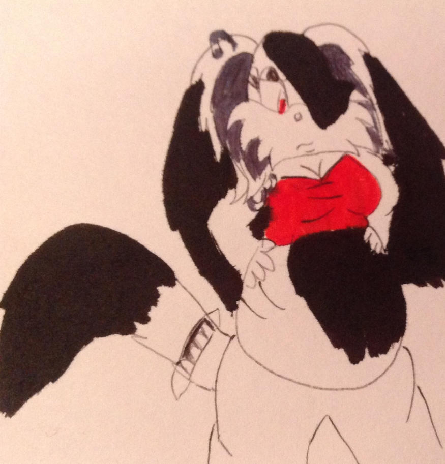 Fat Francesca the Goth dog by coralinefan4ever