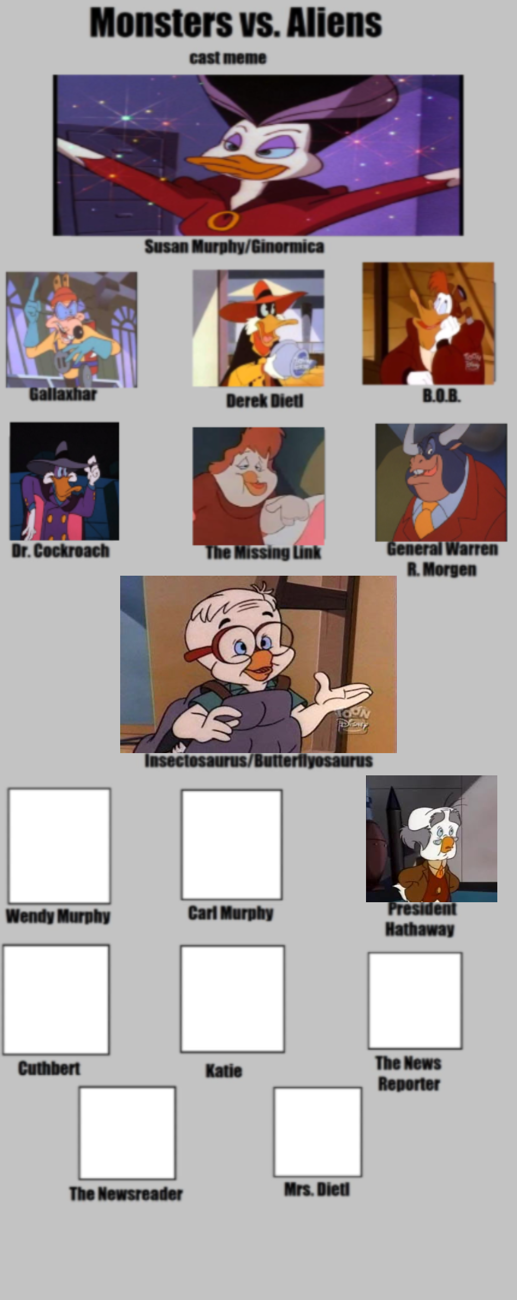 Monsters Vs Aliens Cast Meme Blank By Jamison1209 On Deviantart