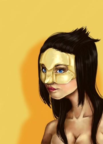 Golden Mask by BlueEyedKat